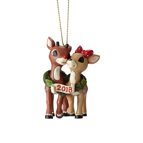 Jim Shore #6001596 Rudolph with Clarice, Dated 2018