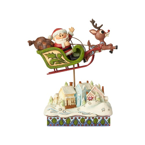 Jim Shore #6001593 Santa in Sleigh with Reindeer