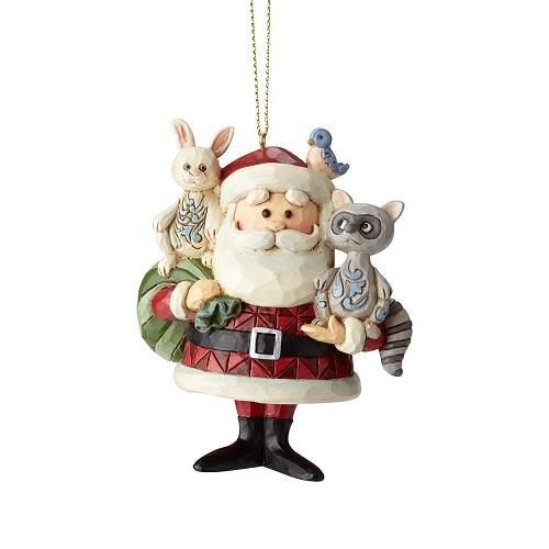 Jim Shore #6001598 Santa with Woodland Animals