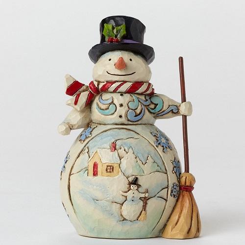 SnowmanWithSceneMiniLarge