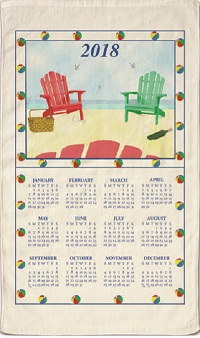 2018 Kay Dee Amp Stevens Linen Calendar Towels Old