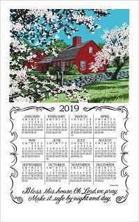 2019 Kay Dee Amp Stevens Linen Calendar Towels Old