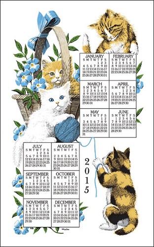 2015 Linen Calendar Towel (3214)