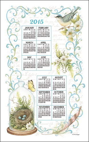 2015 Linen Calendar Towel (3341)