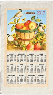 2017AppleBasketCalenderTowelLittle