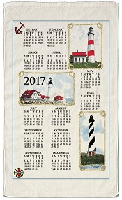 2017LighthousesCalendarTowelLittle