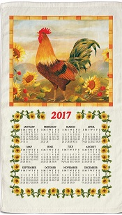 2017MorningRoosterCalendarTowelLittle