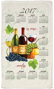 2017WineCheeseCalendarTowelLittle