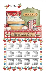 2018BakeWithLoveCalendarTowelLittle