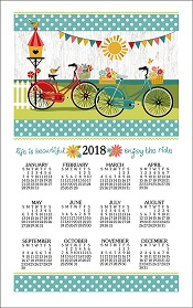 2018EnjoyTheRideCalendarTowelLittle