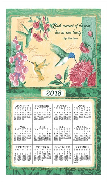 2018WingsAndBlossomsCalendarTowelLarge