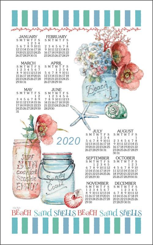 2020 Linen Calendar Towel (3352)