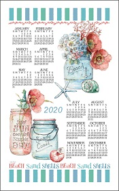 20BeachHouseFloralCalendarTowelLittle