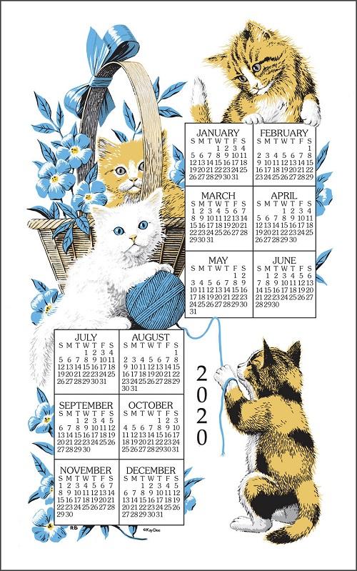 2020 Linen Calendar Towel (3214)