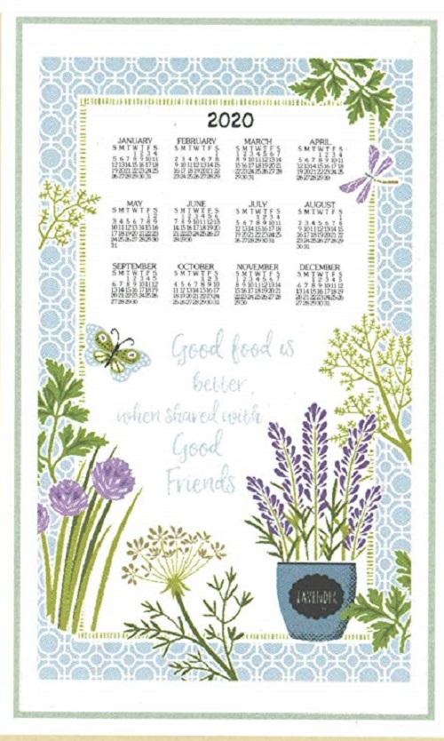 2020 Linen Calendar Towel (3362)