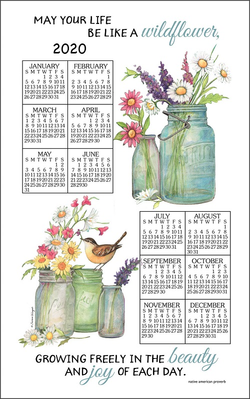 20WildflowersCalendarTowelLarge