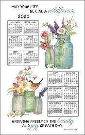 20WildflowersCalendarTowelLittle