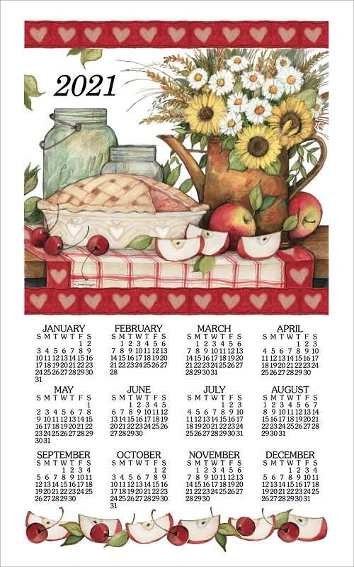 2021 Linen Calendar Towel (3355) Apple Pie