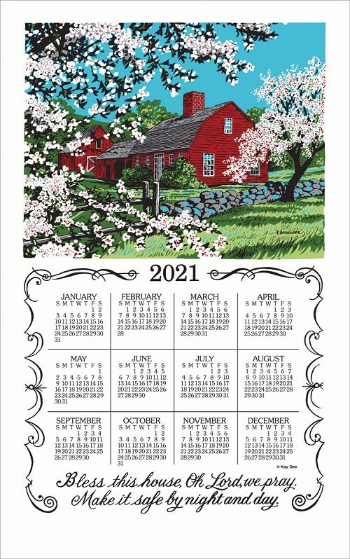 2021 Linen Calendar Towel (3205)