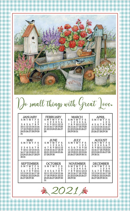 2021 NEW Linen Calendar Towel (3370)