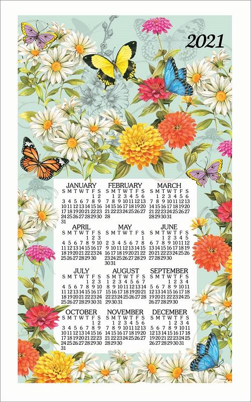 2021 Linen Calendar Towel (3339)