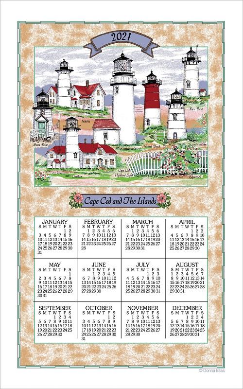 2021 Linen Calendar Towel (3291)