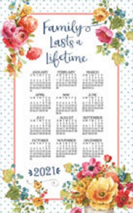 2021 Linen Calendar Towel (3367)