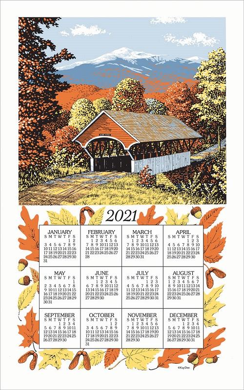 2021 Linen Calendar Towel (3221)