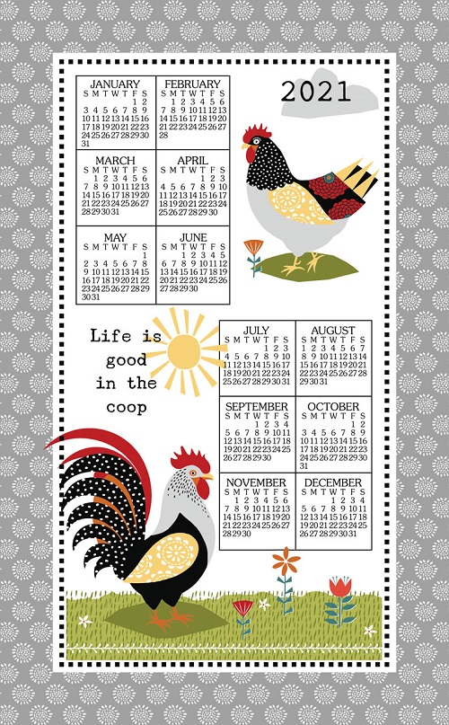 2021 NEW Linen Calendar Towel (3371)