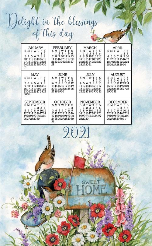 2021 NEW Linen Calendar Towel (3372)