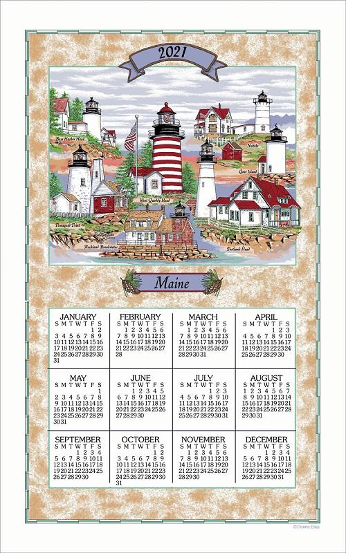 2021 Linen Calendar Towel (3292)