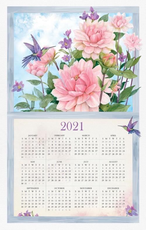 2021 NEW Linen Like Calendar Towel (15285)
