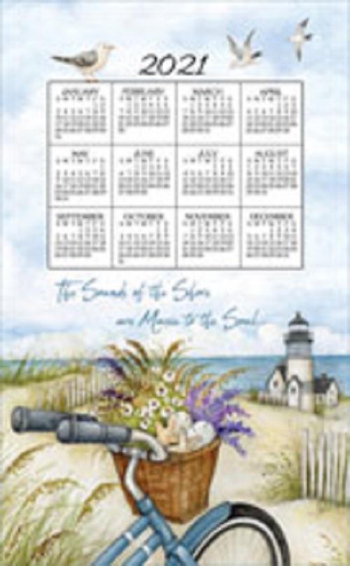 2021 NEW Linen Calendar Towel (3373)