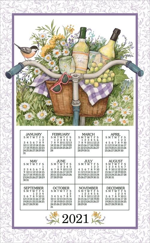 2021 NEW Linen Calendar Towel (3369)