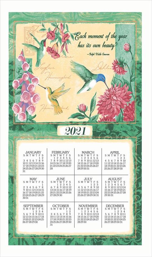 2021 Linen Calendar Towel (3334)