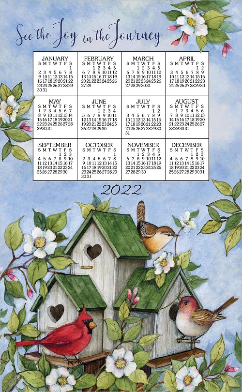 2022 NEW Linen Calendar Towel (3394)