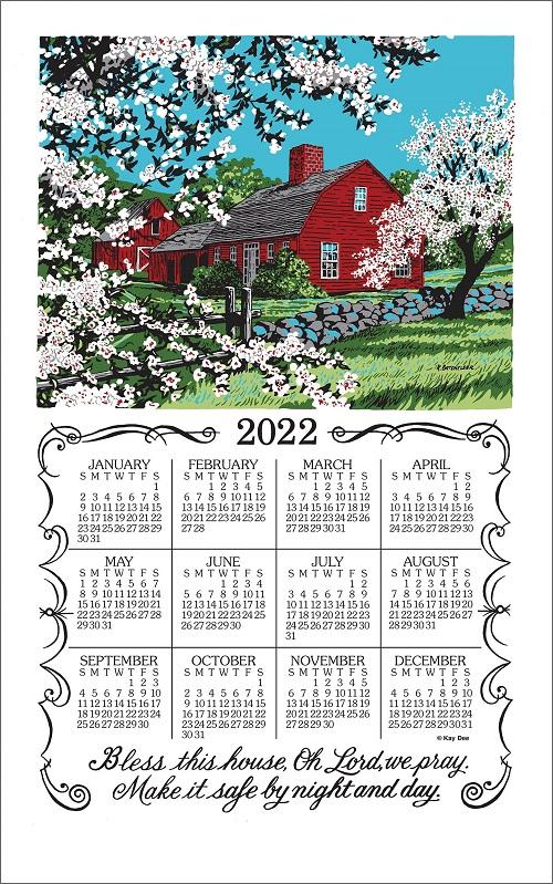 2022 Linen Calendar Towel (3375)