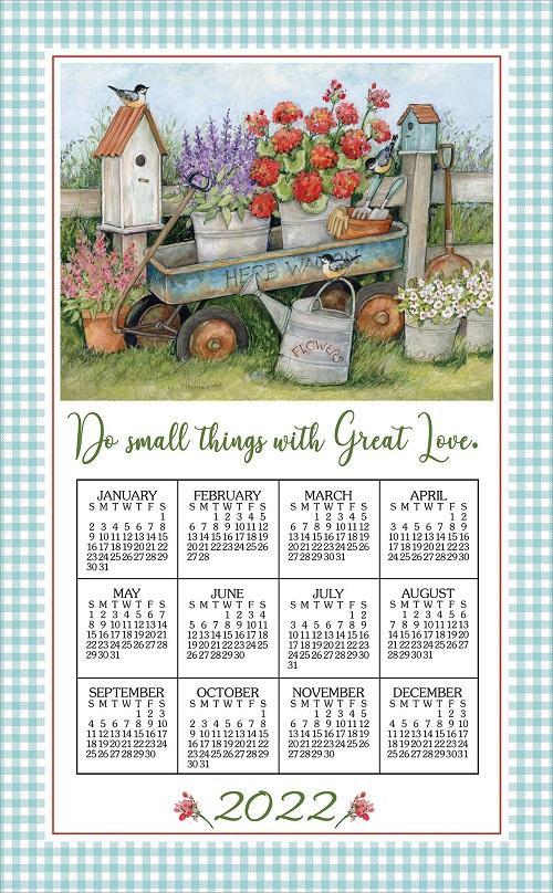 2022 Linen Calendar Towel (3390)