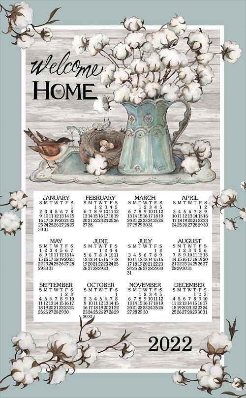 2022 Linen Calendar Towel (3387)