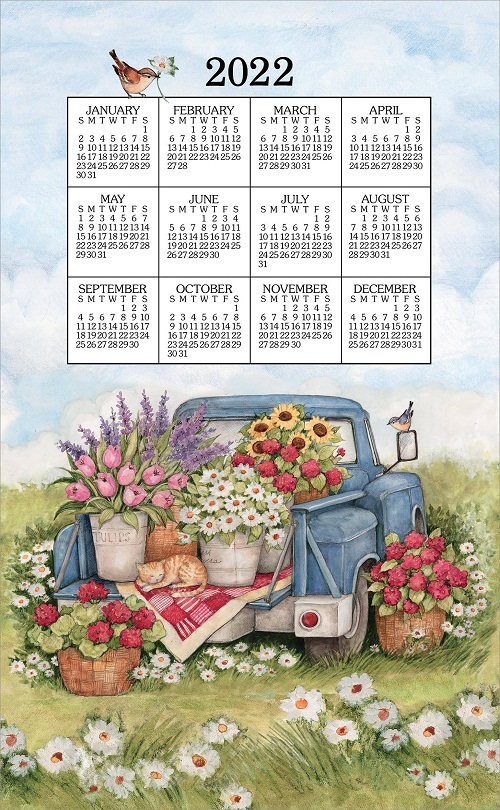 2022 Linen Calendar Towel (3388)