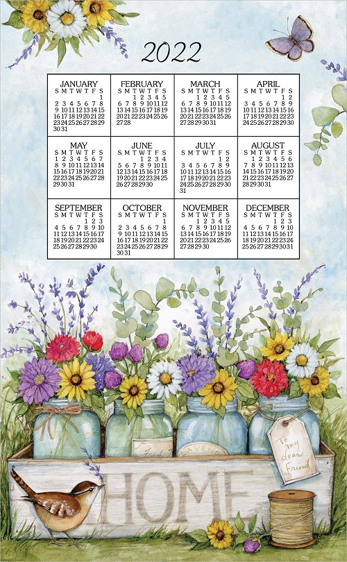 2022 NEW Linen Calendar Towel (3395)