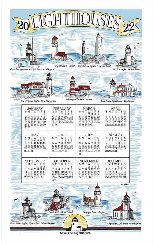 2022 Linen Calendar Towel (3377)