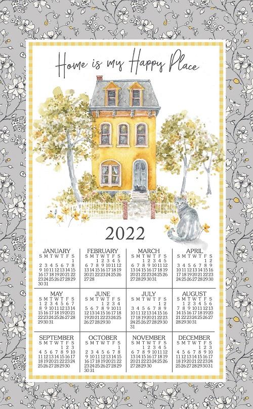 2022 NEW Linen Calendar Towel (3393)