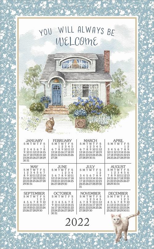 2022 NEW Linen Calendar Towel (3396)