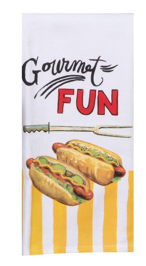 Kay Dee (W4160) BBQ Time Gourmet Fun Dual Purpose Terry Towel