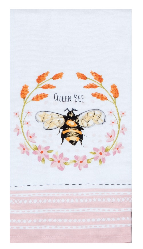 Kay Dee (R4760) Bee Inspired Queen Bee Dual Purpose Terry Towel