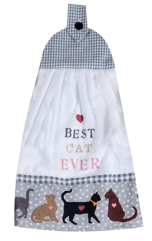 Kay Dee (R4606) Best Cat Ever Tie Towel