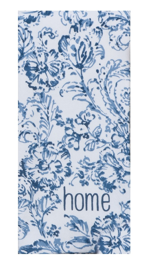 Kay Dee (R6986) Bohemain Blue Floral Dual Purpose Terry Towel