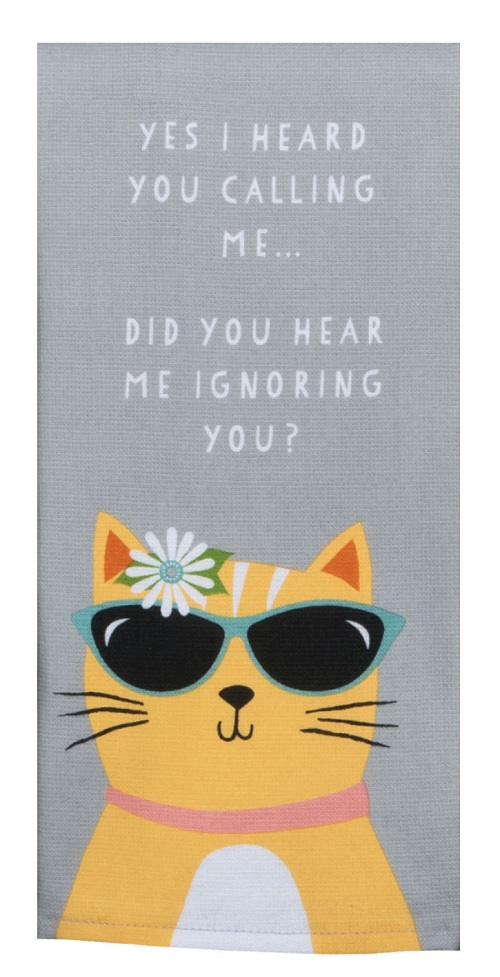 Kay Dee (R4670) Cat Patch Cool Cat Dual Purpose Terry Towel