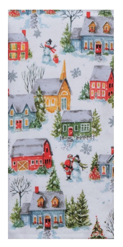 Kay Dee (H3970) Christma Village Dual Purpose Terry Towel